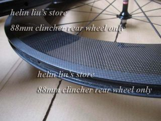 88mm Clincher Carbon Rear Wheel Only Carbon Road Bicycle Wheels