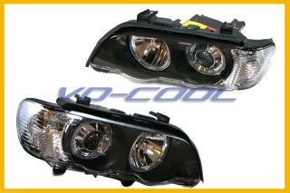 01 06 BMW E53 x5 Depo Black HID Headlight Head Lights