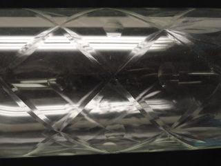 Pair of Antique American Brilliant Cut Glass Hurricane Table Lamp w