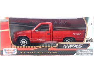 Motormax 1992 92 Chevrolet 454 SS Pick Up Truck 1 24 Diecast Red