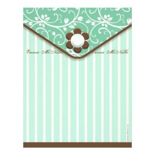 Green and Brown Clutch Letterhead