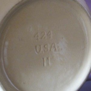 McCoy Yelloware Pie Crust Mixing Bowl Banded 424 11