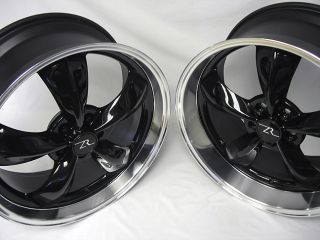 Black Mustang ® Bullitt Wheels 20x8.5 & 20x10 Deep Dish Rims Bullet
