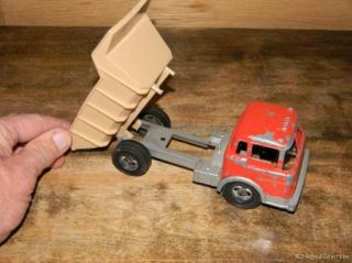 Dump Truck Die Cast Pressed Steel with Plastic Bed and Wheels