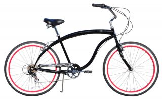 26 Beach Cruiser Bike Bicycle Firmstrong Bruiser 7 Speed Black