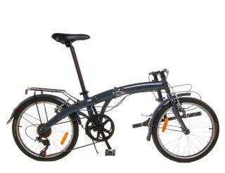 New Lightweight Aluminum Folding Bike Bicycle Grey