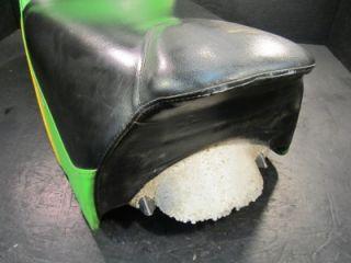 2002 ZR 440 Snopro Arctic Cat Seat Green Black Used Cover Foam