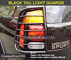 2001 2007 Toyota Sequoia Black Tail Light Guards Rear Lamp Guards 4