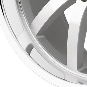 New 19X8.5 5 112 Wilhelm Silver Machined Face Wheel/Rim