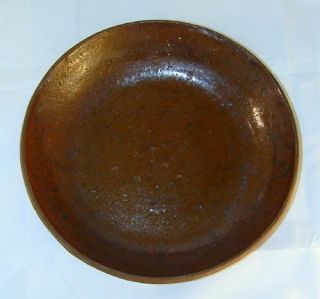 Lead Manganese Glazed Redware Brown Color Plate PA 25