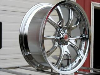 20x9 20x10 Chrome Carroll Shelby CS40 Wheels Rims GT500