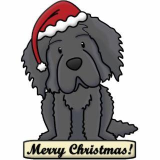 Cartoon Newfoundland Christmas Ornament Photo Sculptures