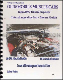 442 Cutlass Toronado Parts Interchange Book 1965 1966 1967 1968 1969