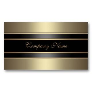 Beige Metal  Black Bronze Business Card Templates