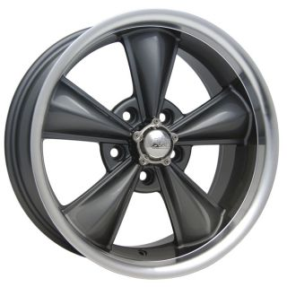 Gray Mustang ® Wheels Rims 17x7 & 17x8 with Tires 1967 1968 1969 1970