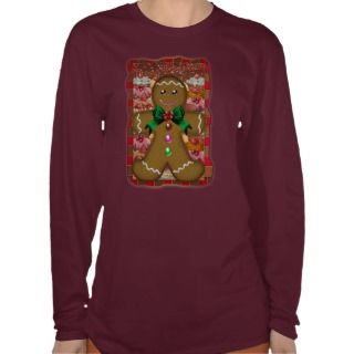 Gingerbread Man Christmas Jumper   T Shirts
