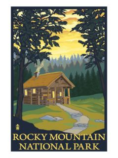 Park, Co   Cabin Scene, c.2009 Print by Lantern Press