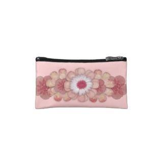 Pink Floral Bagettes Bag Makeup Bags