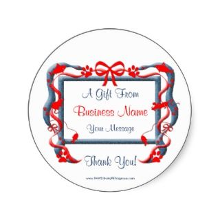 Gift Tag Stickers Personalize for the Pet Business