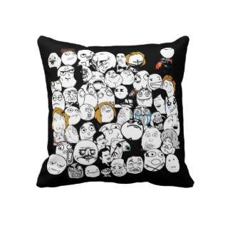 All Memes   Black & White Pillow