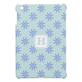 Monogram Purple Daisy iPad Mini Case