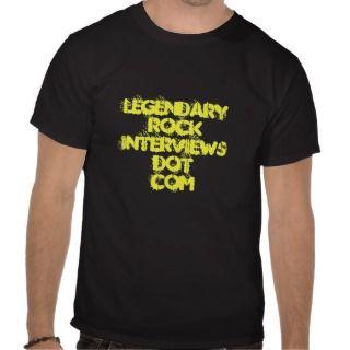Legendary Rock Interviews Dot Com Black Concert T T shirts