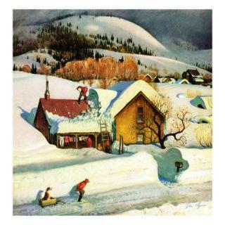 Deep Snow Fall, January 23, 1954 Giclee Print by John Clymer