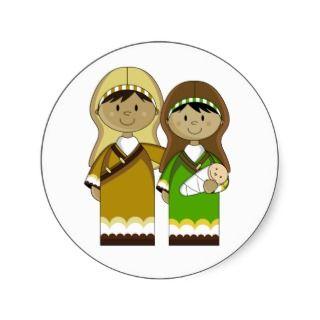 Mary & Joseph with Baby Jesus Sticker