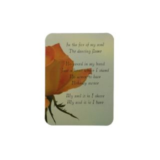 Fire of My Soul  Soulful Poetry Rectangle Magnets