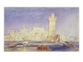 Rhodes, C.1823 24 (W/C and Bodycolour on Paper) Giclee Print by Joseph Mallord William Turner