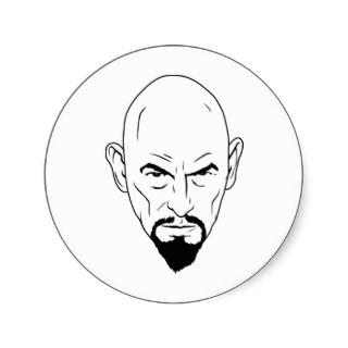 Anton Lavey Portrait Sticker