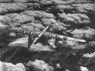 SACs B 36 Bomber Plane During Practice Run from Strategic Air Commands Carswell Air Force Base Premium Photographic Print by Margaret Bourke White