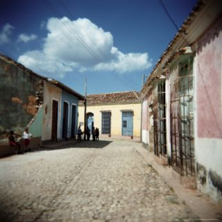 Street Scene with Colourful Houses, Trinidad, Cuba, West Indies, Central America Photographic Print by Lee Frost