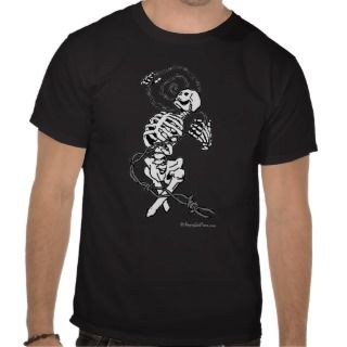 Skeleton and Barbed Wire T shirt