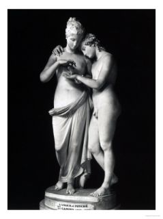 Cupid and Psyche, Louvre Museum, Paris Giclee Print by Antonio Canova