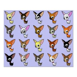 Cute Cartoon Chihuahuas posters by SugarVsSpice