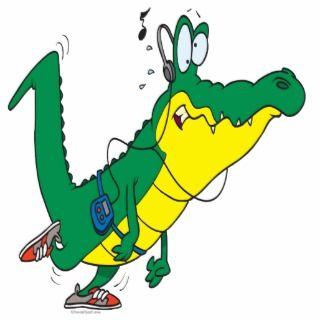 funny fitness gator alligator cartoon acrylic cut outs