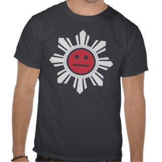 Filipino Sun Face   Red and White Shirt