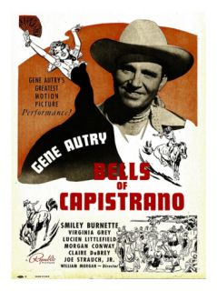 Bells of Capistrano, Gene Autry on Window Card, 1942 Premium Poster