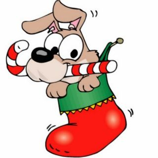 Fidos Christmas Stocking Cartoon Photo Sculpture