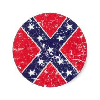 Vintage Confederate flag Sticker