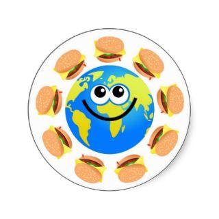 Burger Globe Stickers