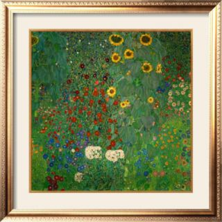 Farm Garden with Sunflowers, c.1912 Pre made Frame by Gustav Klimt
