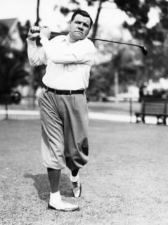 New York Yankees. Yankees Outfielder Babe Ruth Playing Golf, Early 1930s Premium Poster