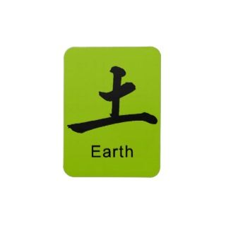 Japanese symbol for earth causes environment flexible magnets