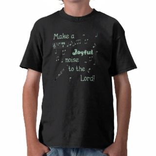 Joyful Noise Clarinet (green) T Shirt