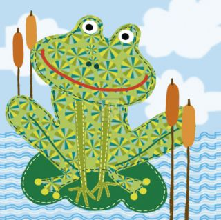 Frankie the Frog Print by Jessie Eckel