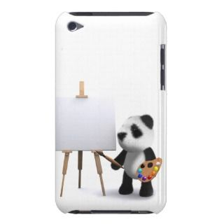 3d Baby Panda Artist iPod Touch Cases