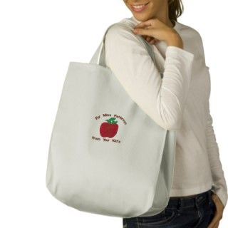 Red Delicious Apple Customize Embroidery Pattern Bags