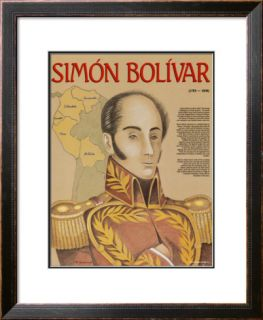 Hispanic Heritage   Simon Bolivar Pre made Frame